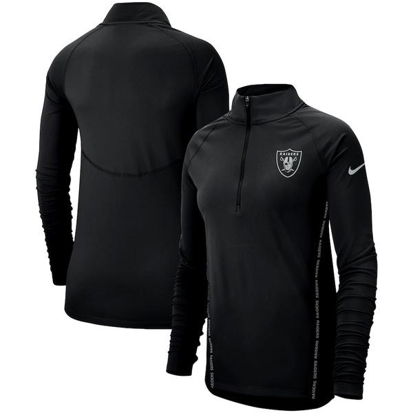 ナイキ レディース ジャケット&ブルゾン アウター Las Vegas Raiders Nike Women's Core Half-Zip Pullover Jacket Black