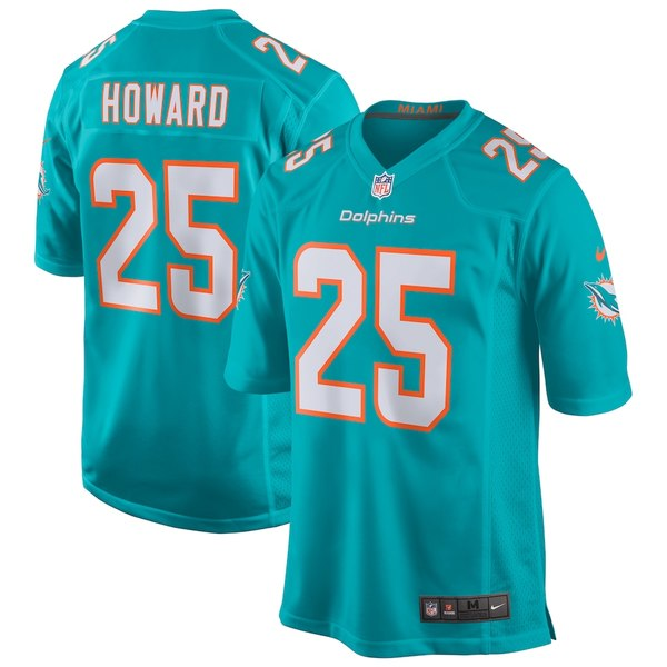 ナイキ メンズ シャツ トップス Xavien Howard Miami Dolphins Nike Game Jersey Aqua
