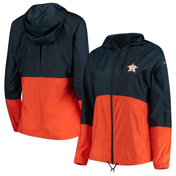 コロンビア レディース ジャケット&ブルゾン アウター Houston Astros Columbia Women's Flash Forward Windbreaker Jacket Navy/Orange