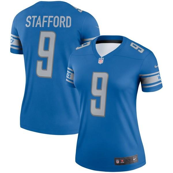 ナイキ レディース シャツ トップス Matthew Stafford Detroit Lions Nike Women's Legend Jersey Blue