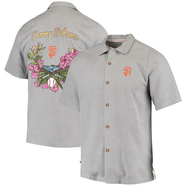 トッミーバハマ メンズ シャツ トップス San Francisco Giants Tommy Bahama Bay Back Panel Button-Up Shirt Gray