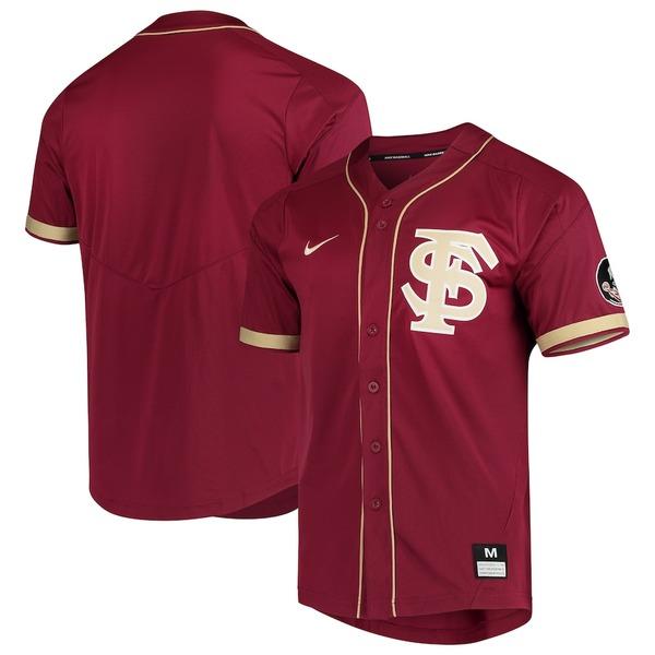 ナイキ メンズ シャツ トップス Florida State Seminoles Nike Vapor Untouchable Elite Full-Button Replica Baseball Jersey Garnet
