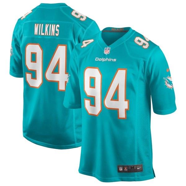 ナイキ メンズ シャツ トップス Christian Wilkins Miami Dolphins Nike Game Jersey Aqua