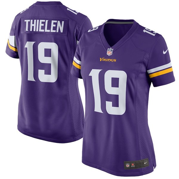 ナイキ レディース シャツ トップス Adam Thielen Minnesota Vikings Nike Women's Game Jersey Purple