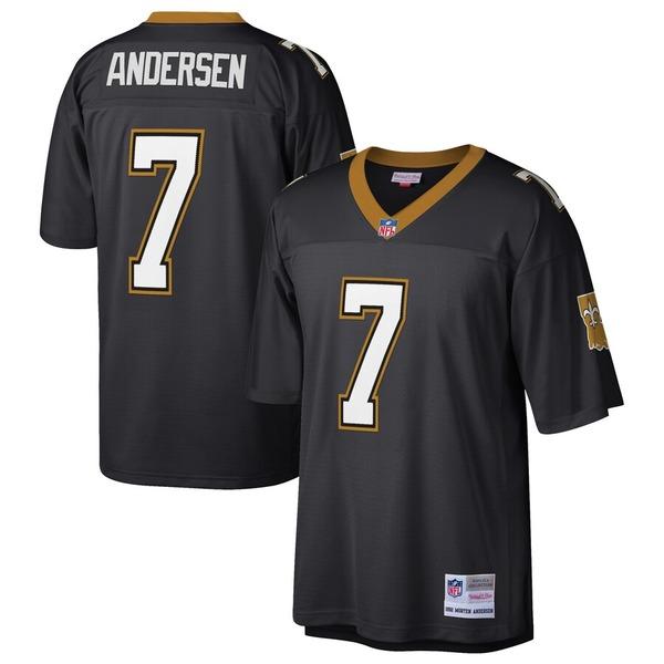 ミッチェル&ネス メンズ シャツ トップス Morten Andersen New Orleans Saints Mitchell & Ness Retired Player Legacy Replica Jersey Black