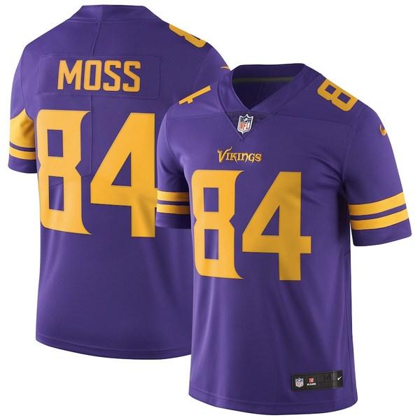 ナイキ メンズ シャツ トップス Randy Moss Minnesota Vikings Nike Vapor Untouchable Retired Player Limited Jersey Purple