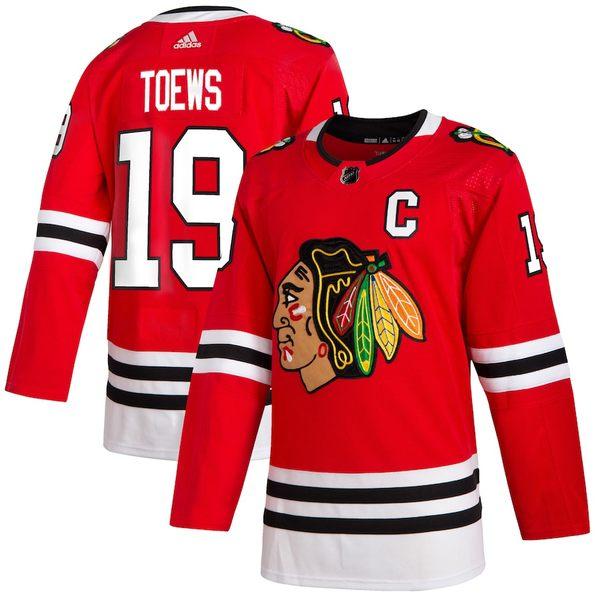 アディダス メンズ シャツ トップス Jonathan Toews Chicago Blackhawks adidas Home Authentic Player Jersey Red