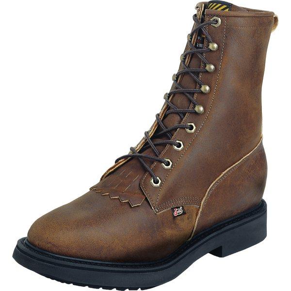 Justin メンズ シューズ ブーツ レインブーツ 本店 Aged Bark 全商品無料サイズ交換 ジャスティン Boots Up EH 35%OFF Toe Lace Men's Work Steel
