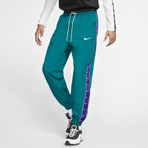 ナイキ メンズ カジュアルパンツ ボトムス Swoosh Woven Pants Geode Teal/Court Purple/White