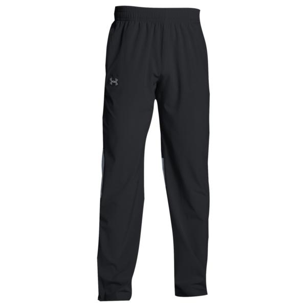 アンダーアーマー メンズ カジュアルパンツ ボトムス Team Squad Woven Warm Up Pants Black/Steel