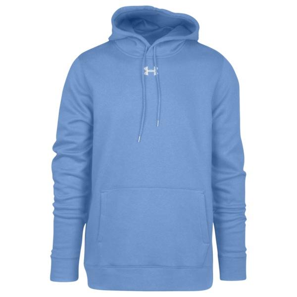 アンダーアーマー メンズ パーカー・スウェットシャツ アウター Team Hustle Fleece Hoodie Carolina Blue/White