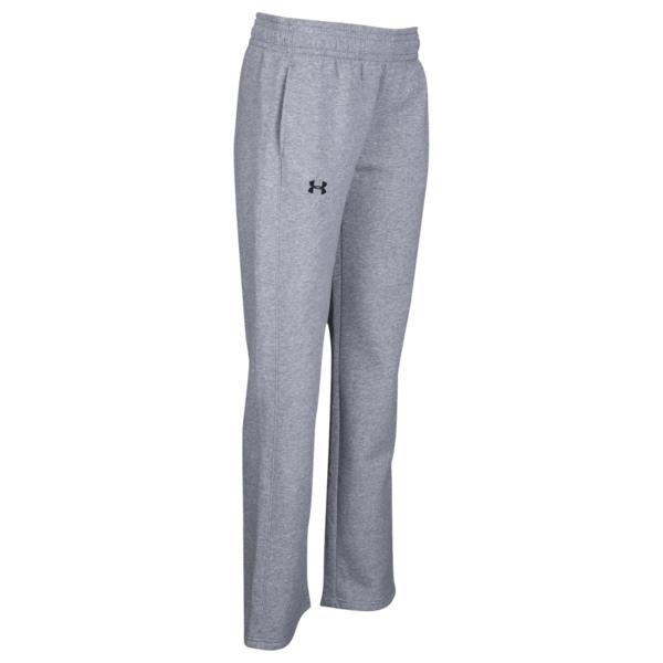 アンダーアーマー レディース カジュアルパンツ ボトムス Team Hustle Fleece Pants True Grey Heather/Black