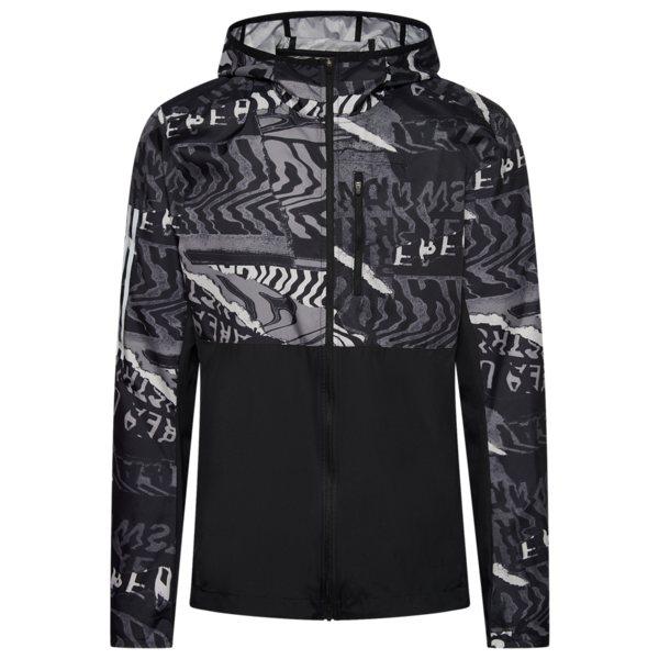 アディダス メンズ フィットネス スポーツ Own The Run Graphic Jacket Black/Grey One/Grey Six