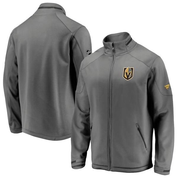 ファナティクス メンズ ジャケット&ブルゾン アウター Vegas Golden Knights Fanatics Branded Authentic Pro Rinkside FullZip Jacket Gray