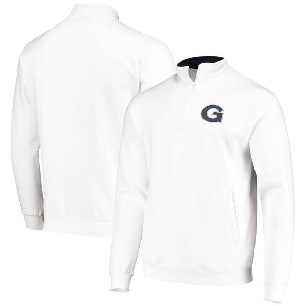 コロシアム メンズ ジャケット&ブルゾン アウター Georgetown Hoyas Colosseum Tortugas Logo QuarterZip Jacket Charcoal
