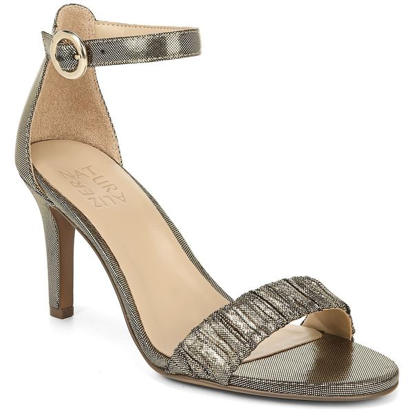 ナチュライザー レディース サンダル シューズ Naturalizer Kinsley Ankle Strap Sandal (Women) Gold Pleated Fabric