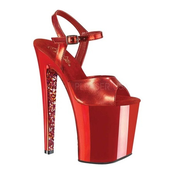 プリーザー レディース サンダル シューズ Xtreme 809TTG Ankle Strap Sandal Red Metallic/Red Chrome Glitter Polyurethane