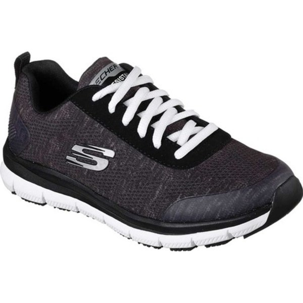 スケッチャーズ レディース スニーカー シューズ Work Relaxed Fit Comfort Flex Pro HC SR Sneaker Black/White