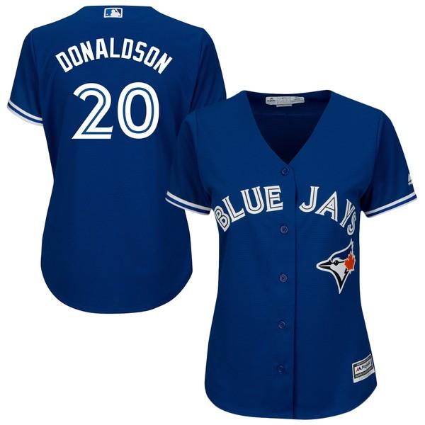マジェスティック レディース ユニフォーム トップス Josh Donaldson Toronto Blue Jays Majestic Women's 2017 Cool Base Replica Player Jersey Scarlet