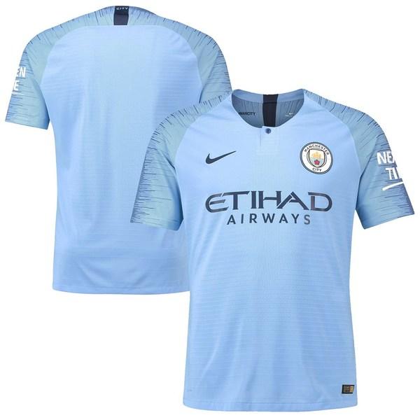ナイキ メンズ ユニフォーム トップス Manchester City Nike 2018/2019 Authentic Home Jersey Blue