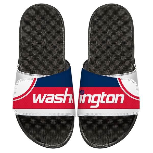 アイスライド メンズ サンダル シューズ Washington Wizards ISlide Away Jersey Split Slide Sandals White