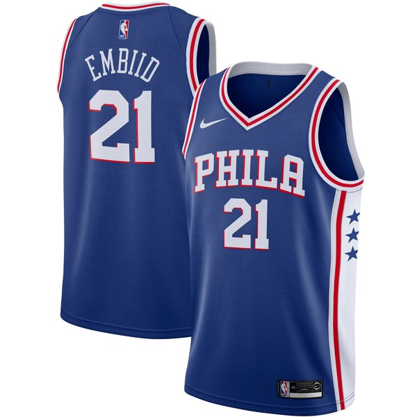 ナイキ メンズ ユニフォーム トップス Joel Embiid Philadelphia 76ers Nike Swingman Player Jersey Association Edition White