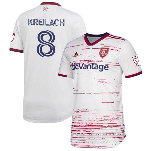 アディダス メンズ ユニフォーム トップス Damir Kreilach Real Salt Lake adidas 2020 Secondary Authentic Player Jersey White