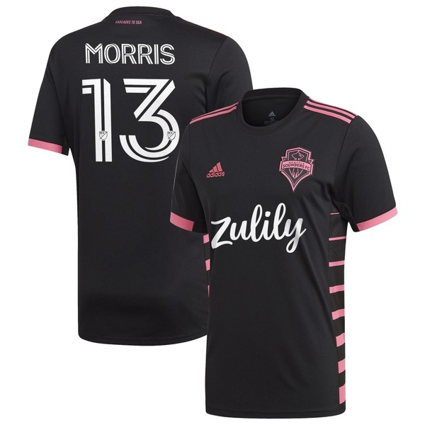 アディダス メンズ ユニフォーム トップス Jordan Morris Seattle Sounders FC adidas 2020 Nightfall Replica Player Jersey Black