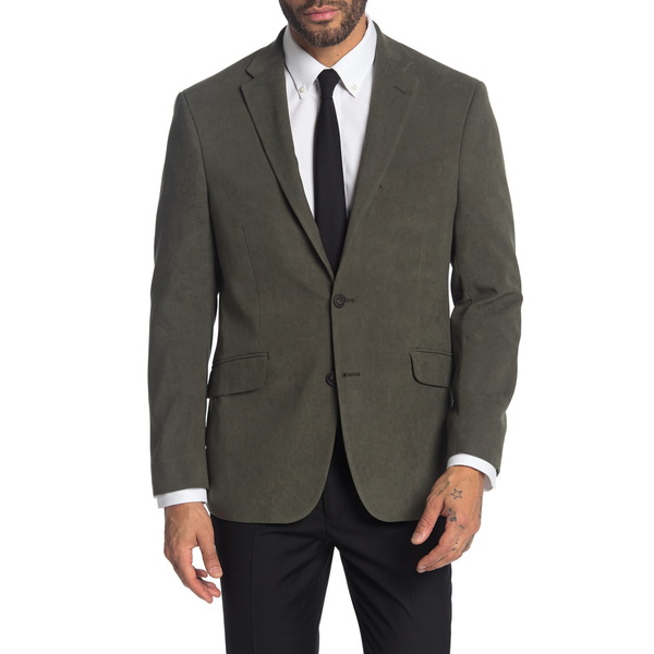 Blazer メンズ ケネスコール アウター Solid Button ジャケット&ブルゾン Two Front Jacket 340GREEN