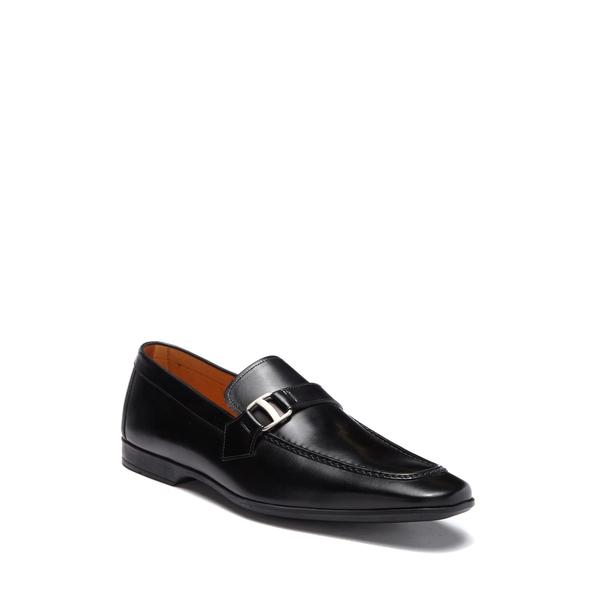 マグナーニ メンズ スリッポン・ローファー シューズ Tonic Leather Buckle Loafer BLACK
