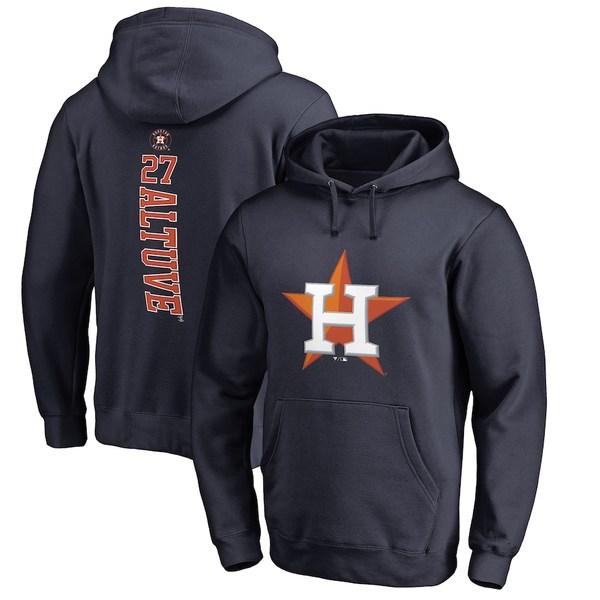 ファナティクス メンズ パーカー・スウェットシャツ アウター Jose Altuve Houston Astros Fanatics Branded Backer Pullover Hoodie Navy