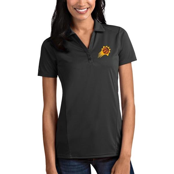 アンティグア レディース ポロシャツ トップス Phoenix Suns Antigua Women's Tribute Polo Charcoal