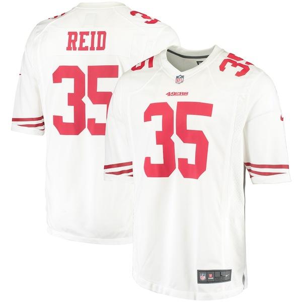 ナイキ メンズ シャツ トップス Eric Reid San Francisco 49ers Nike Game Away Jersey White