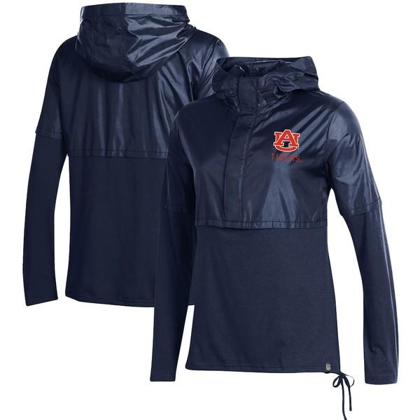 アンダーアーマー レディース ジャケット&ブルゾン アウター Auburn Tigers Under Armour Women's Sportstyle Hybrid Jacket Navy