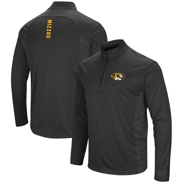 コロシアム メンズ ジャケット&ブルゾン アウター Missouri Tigers Colosseum Audible Windshirt Quarter-Zip Pullover Jacket Heathered Black