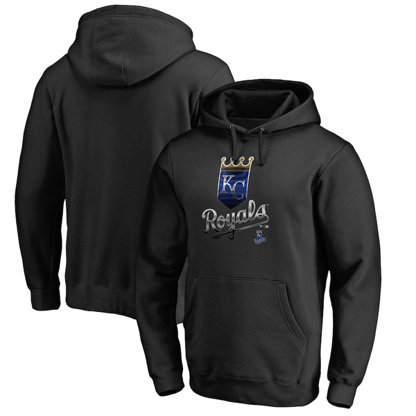 ファナティクス メンズ パーカー・スウェットシャツ アウター Kansas City Royals Fanatics Branded Midnight Mascot Pullover Hoodie Black