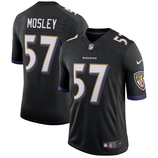 ナイキ メンズ シャツ トップス C.J. Mosley Baltimore Ravens Nike Speed Machine Limited Player Jersey Black