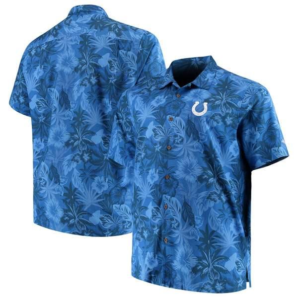 トッミーバハマ メンズ シャツ トップス Indianapolis Colts Tommy Bahama Big & Tall Fuego Floral Button-Up Shirt Royal