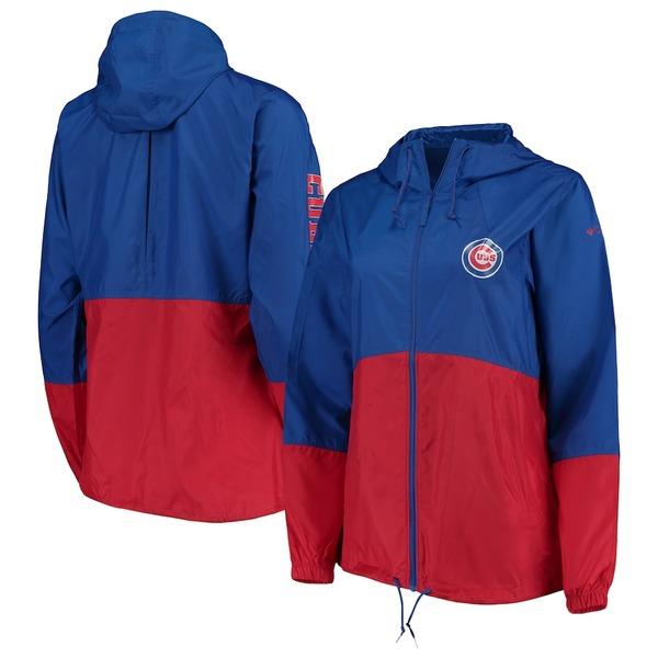 コロンビア レディース ジャケット&ブルゾン アウター Chicago Cubs Columbia Women's Flash Forward Windbreaker Jacket Royal/Red