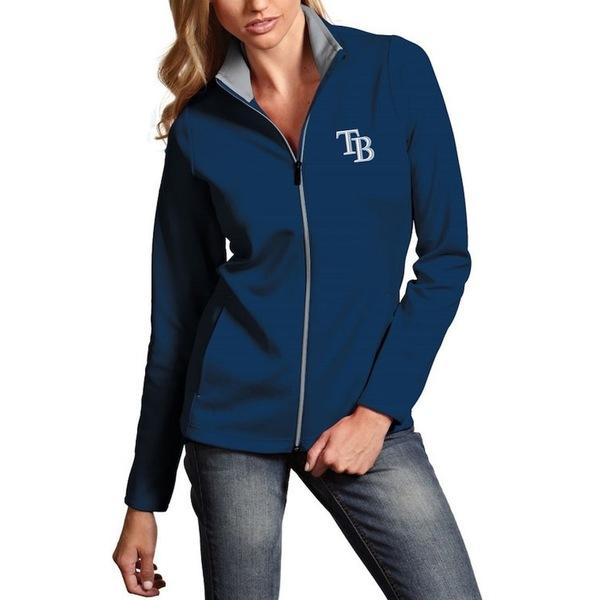 アンティグア レディース ジャケット&ブルゾン アウター Tampa Bay Rays Antigua Women's Leader Full-Zip Jacket Navy