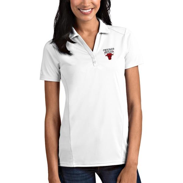 アンティグア レディース ポロシャツ トップス Chicago Bulls Antigua Women's Tribute Polo White