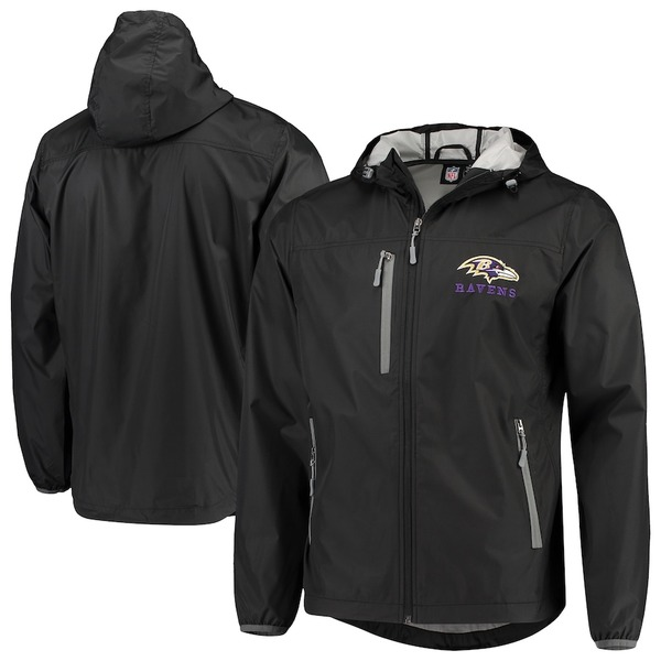 カールバンクス メンズ ジャケット&ブルゾン アウター Baltimore Ravens G-III Sports by Carl Banks Double Play Full-Zip Jacket Black