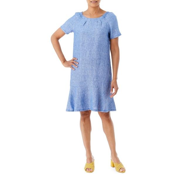 オルセン レディース ワンピース トップス トップス Santorini Linen Greek Flounce Linen Dress Greek Sky, monoHAUS by keyplace/モノハウス:70364abb --- officewill.xsrv.jp