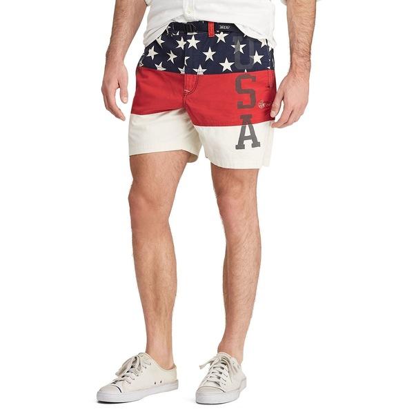 ラルフローレン メンズ ハーフ&ショーツ ボトムス Classic-Fit Cotton Short Usa Color