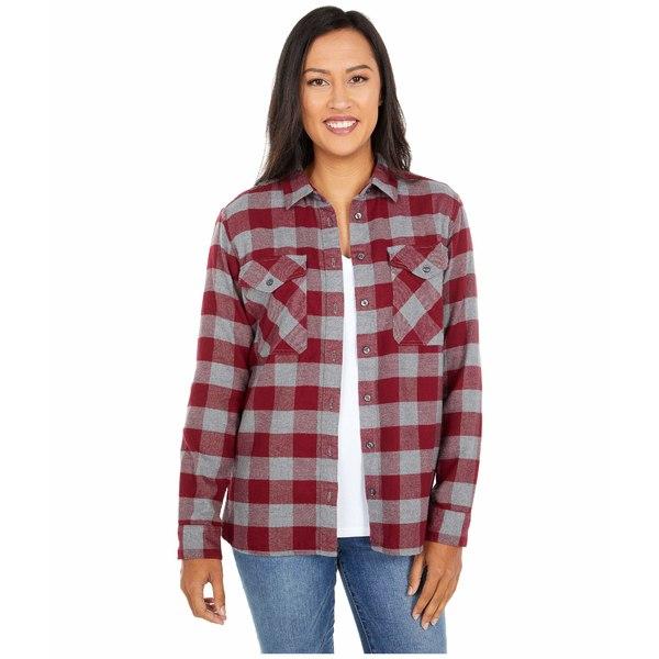 ペンドルトン レディース シャツ トップス Elbow Patch Flannel Shirt Cabernet/Grey Check