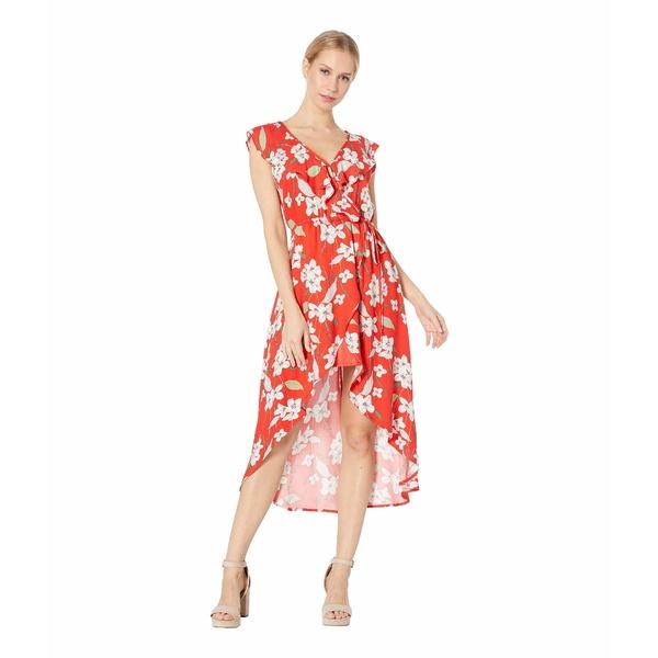 ビービーダコタ レディース ワンピース トップス Giuld the Lily Printed Wrap Dress Poppy Red