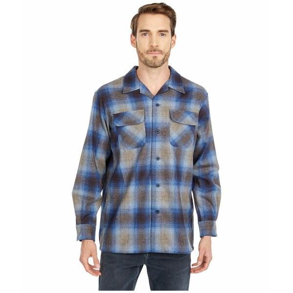 ペンドルトン メンズ シャツ トップス L/S Board Shirt Taupe/Grey/Blue