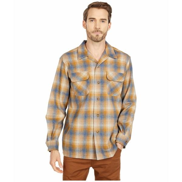 ペンドルトン メンズ シャツ トップス L/S Board Shirt Copper Blue/Tan