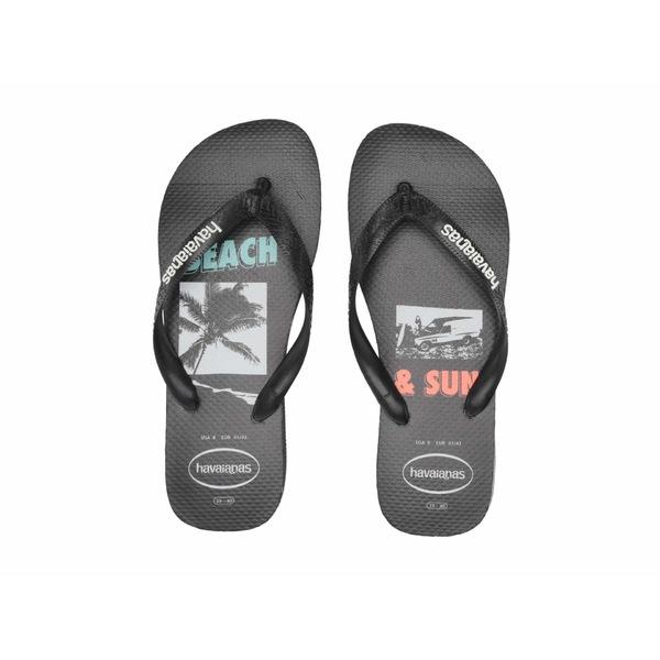 ハワイアナス メンズ サンダル シューズ Top Beach Sandal Black