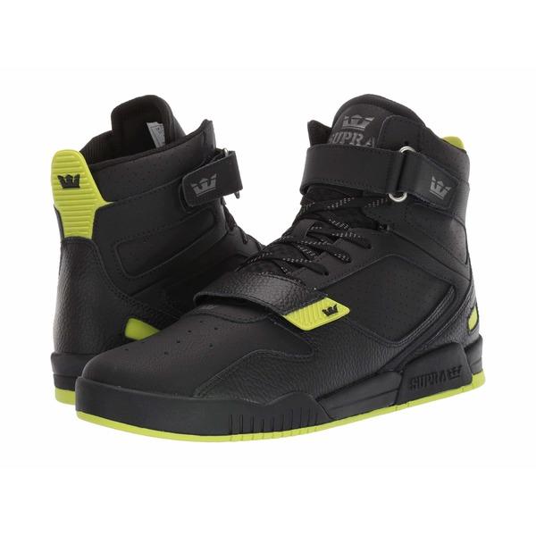スープラ メンズ スニーカー シューズ Breaker Black/Lime/Black